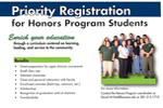Honors Student Priority Registration Pass.